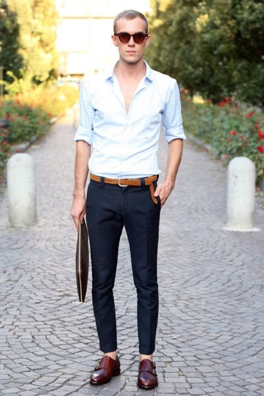 30 best mens outfit ideas to wear with monk strap shoes