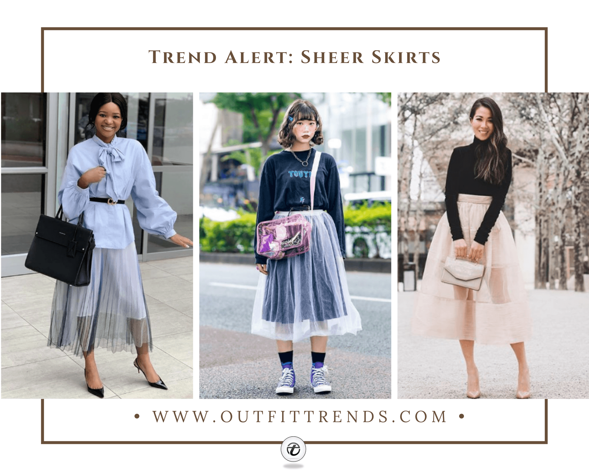 Outfits with Sheer Skirts 29 Ideas How to Wear Sheer Skirts