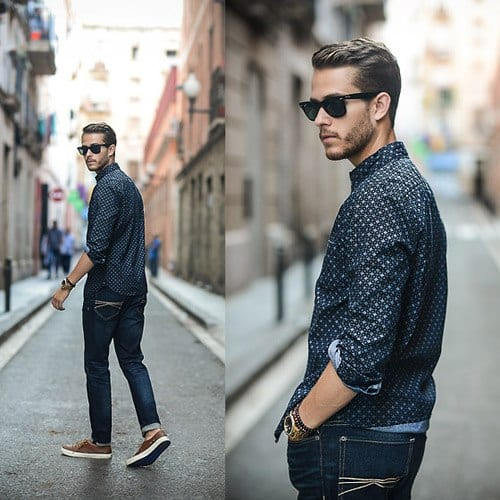 8c4943ae209 Men Outfits with Blue Jeans-27 Ways to Style Guys Blue Jeans