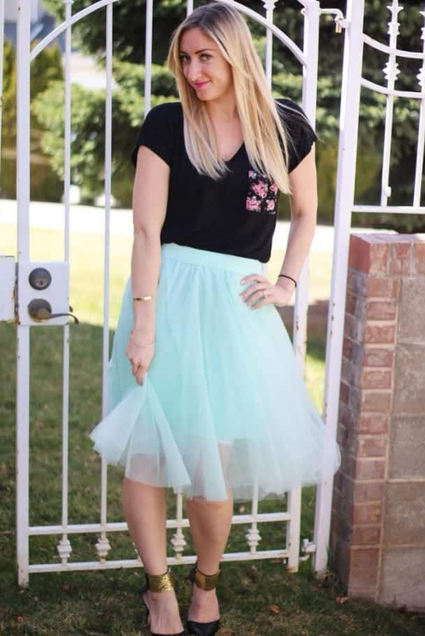how to wear mint colored skirts (5)