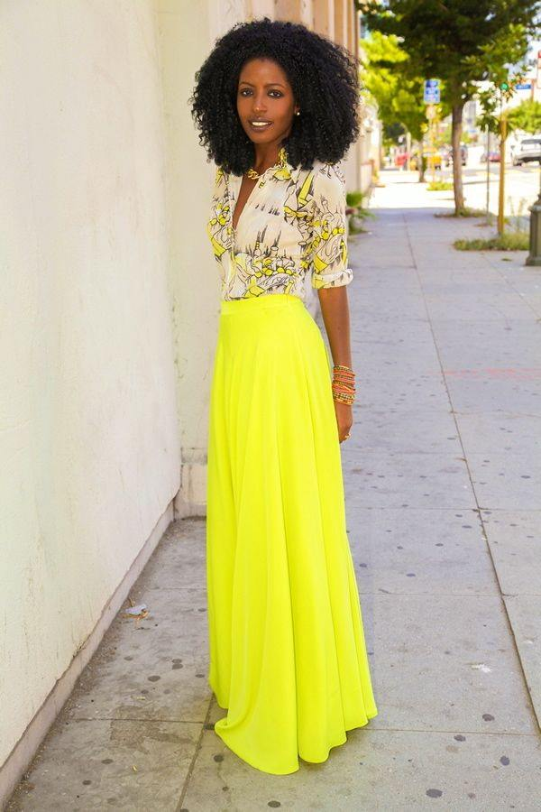 how to wear yellow skirt (18)