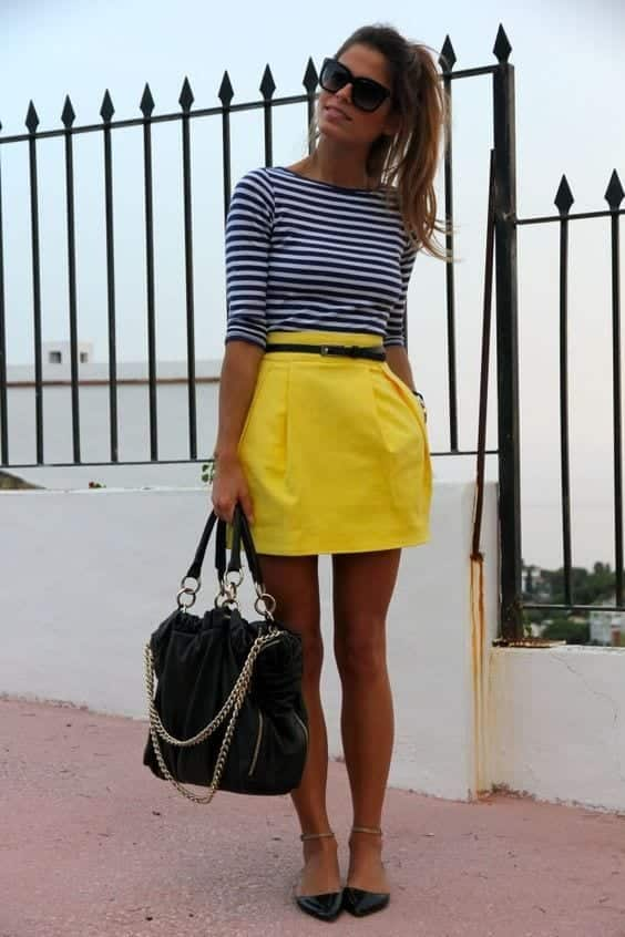 yellow skirt outfits 27 ideas on how to wear a yellow skirt