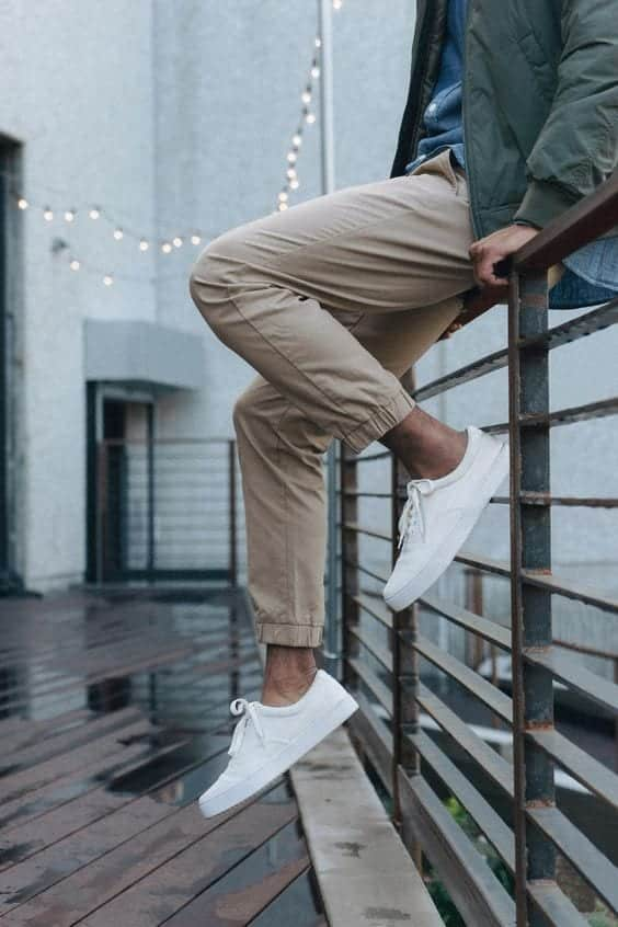How to Wear Khaki Jogger Pants