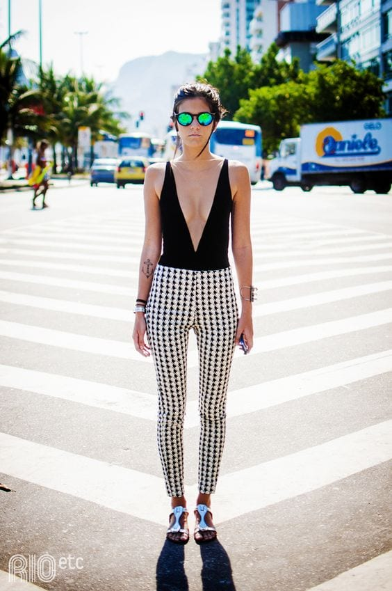 How to Wear Bodysuit with checkered Pants