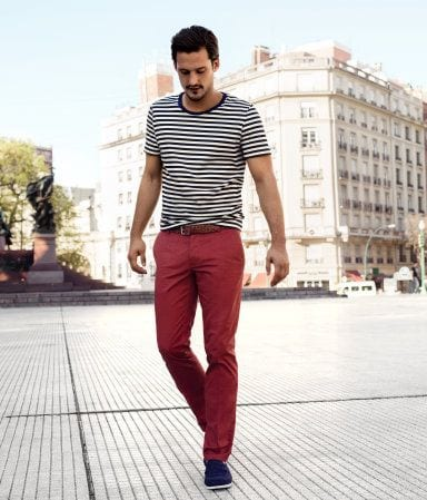 Men Outfits with Red Pants-30 Ways for Guys to Wear Red Pants