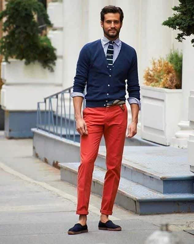 Outfits With Red Shoes For Guys