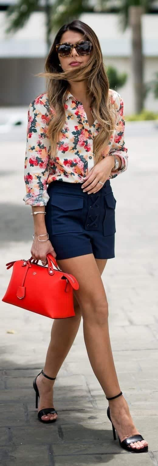 Girls Floral Blouse Outfits-25 Ways To Style a Floral Blouse