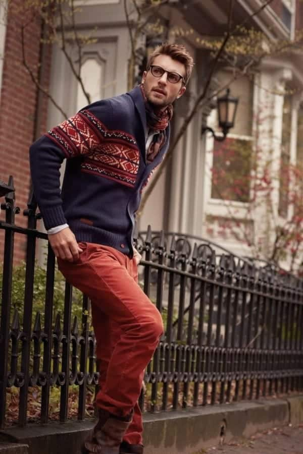 Men's Orange Pants Outfits-35 Best Ways to Wear Orange Pants