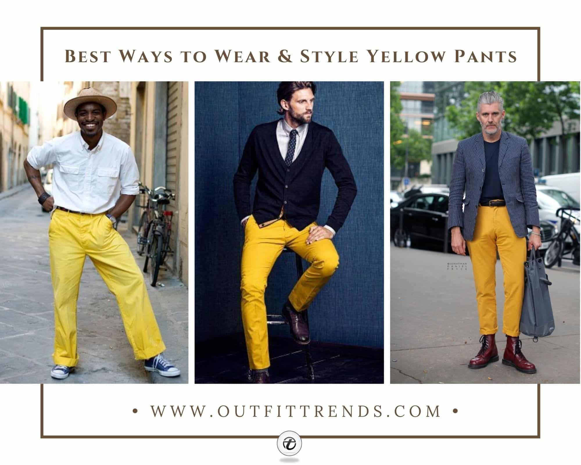 Mens Yellow Pants Outfits35 Best Ways to Wear Yellow Pants