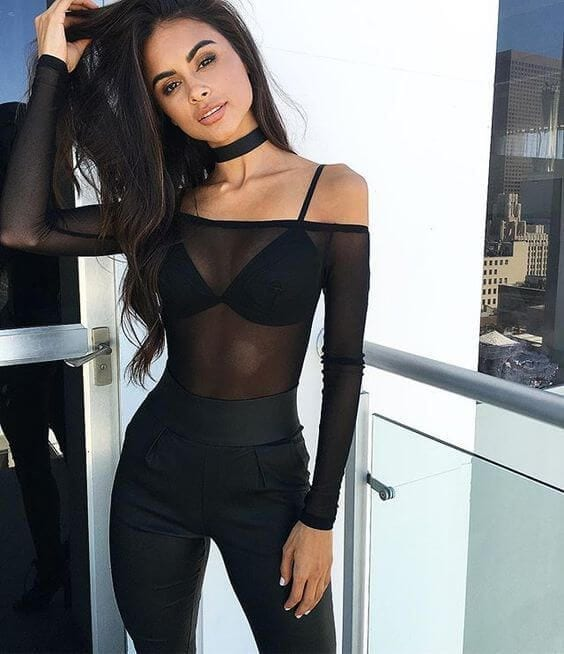 How to wear a sheer club outfit (16)