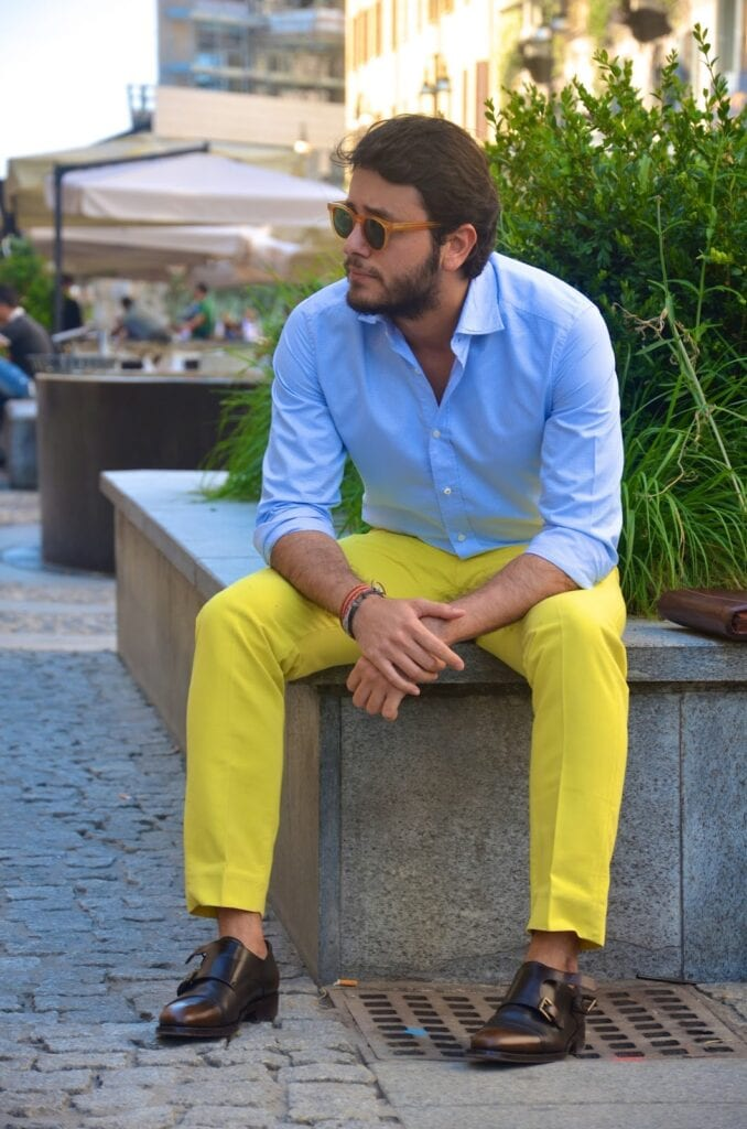 5286b232382 Men s Yellow Pants Outfits-35 Best Ways to Wear Yellow Pants