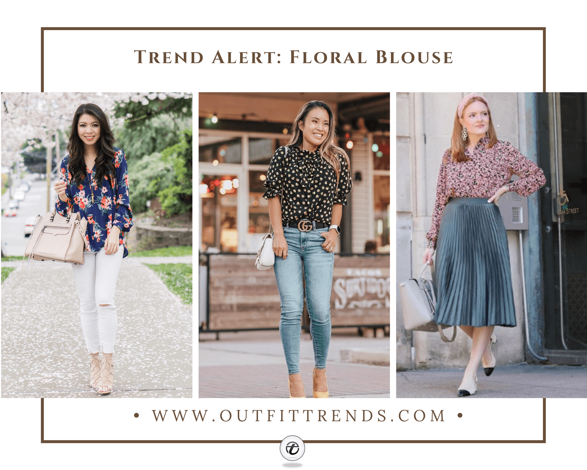 Girls Floral Blouse Outfits-30 Ways To Style a Floral Blouse