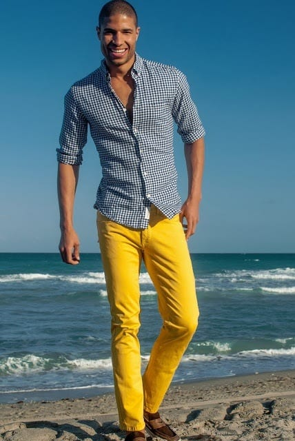 how to wear yellow pants for men (4)