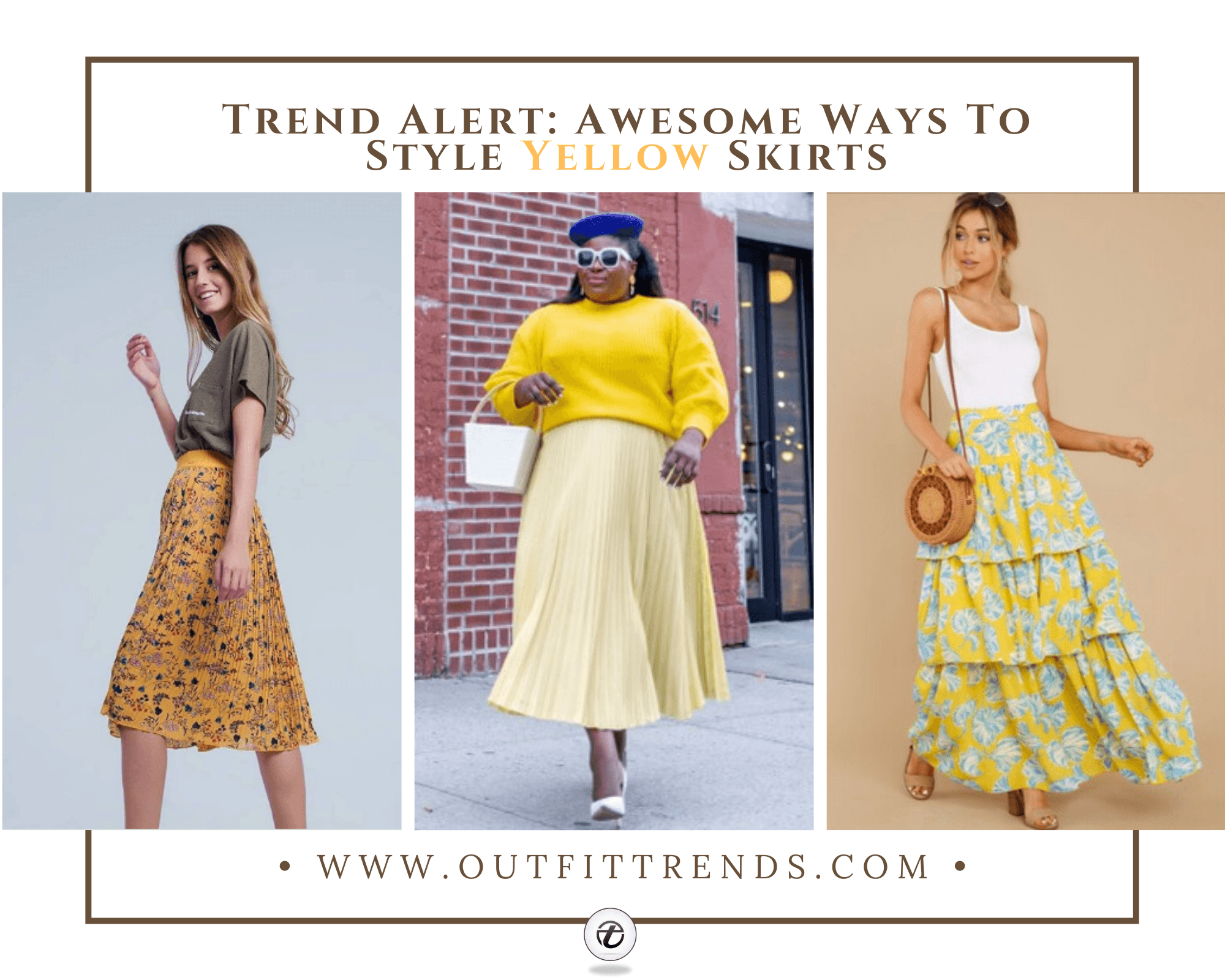 Yellow Skirt Outfits-7 Ideas on How to Wear a Yellow Skirt