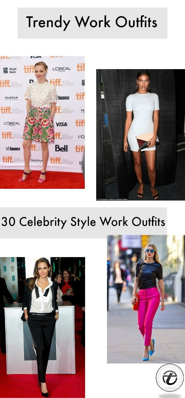 Celebrity Work Outfits for Women-30 Celeb Style Work Outfits