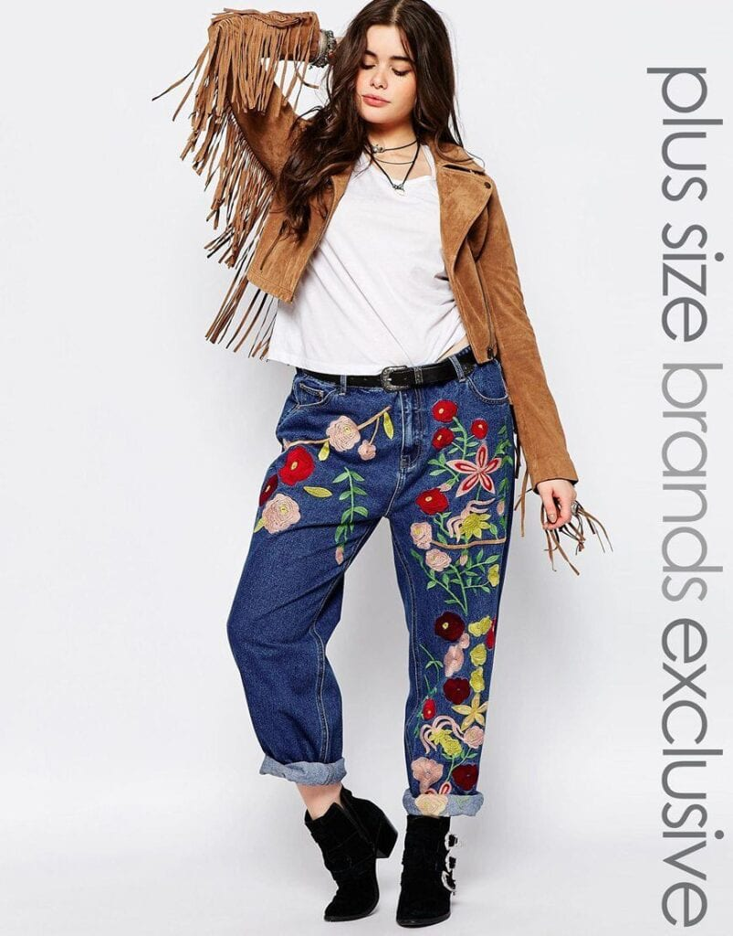 Embroidered Jeans for Girls (23)
