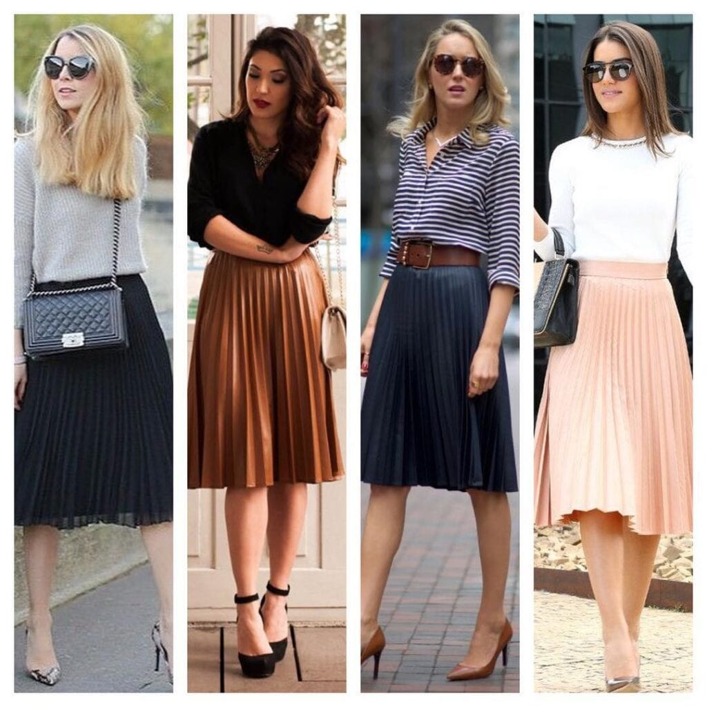 pleated skirt summer outfit