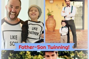 father son twinning matching outfits