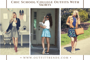 latest skirt outfits for school college