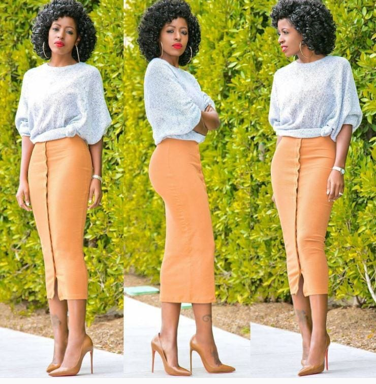 orange skirt outfits (29)