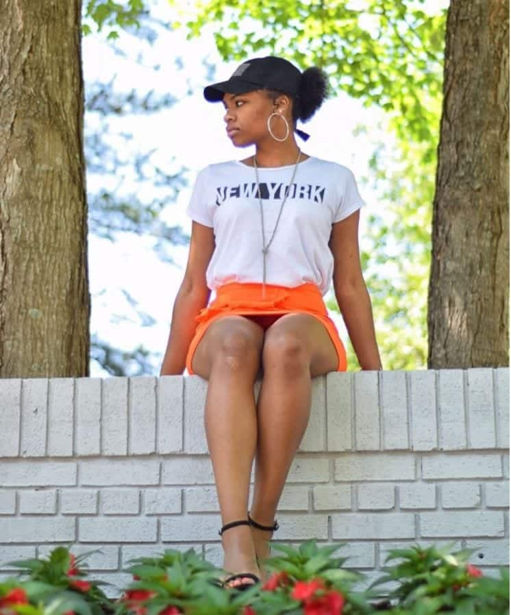 orange skirt outfits (20)