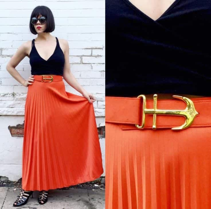 orange skirt outfits (18)