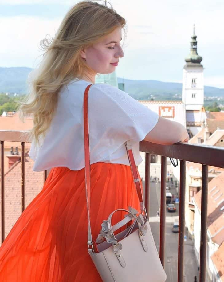 orange skirt outfits (16)