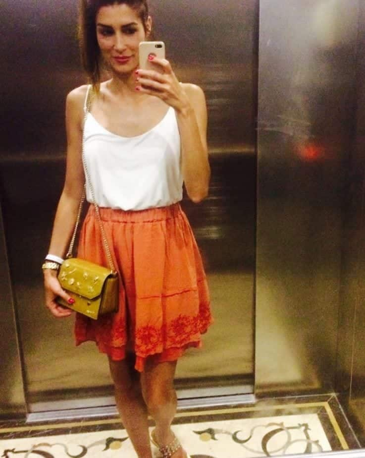 f00fb5eb7046c3 Orange Skirt Outfits - 27 Ideas on How to Wear Orange Skirts