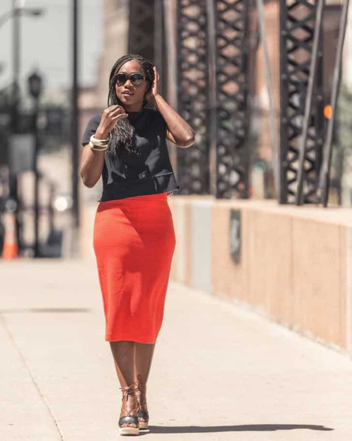 orange skirt outfits (12)