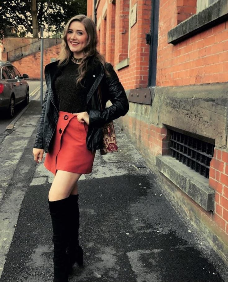 orange skirt outfits (9)