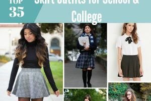 how to wear skirt for school and college girls
