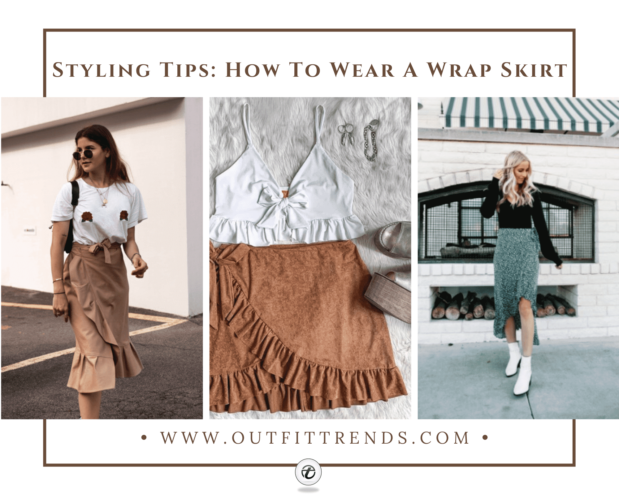 Wrap Skirt Outfits – 32 Ideas On How to Wear Wrap Skirts