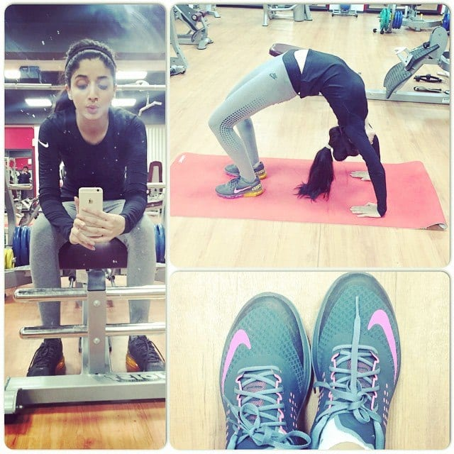 Image result for pakistani celebrities in gym