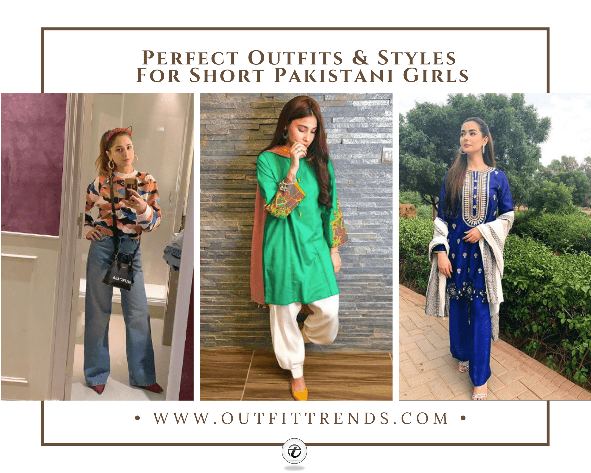 what to wear for short height pakistani girls
