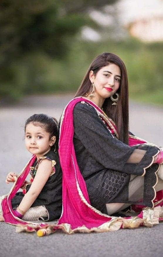 Pakistani Mother Daughter Matching Outfits