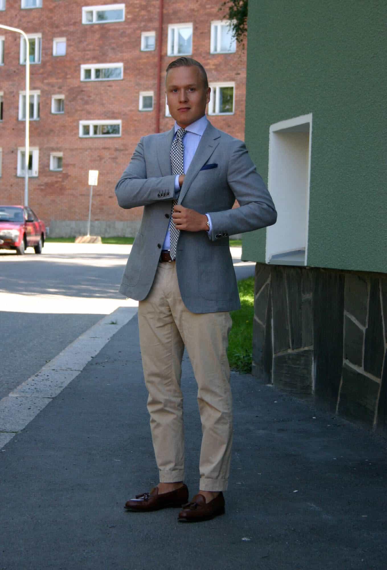 khaki outfits for men
