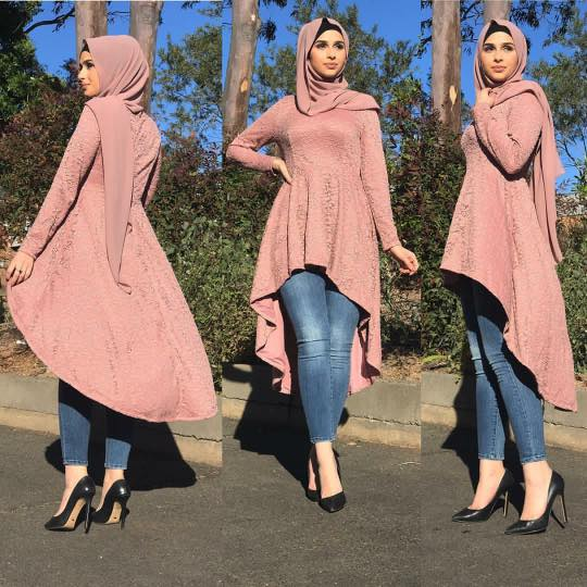 53daddd84e91 40 Stylish Ways to Wear Hijab with Jeans for Chic look