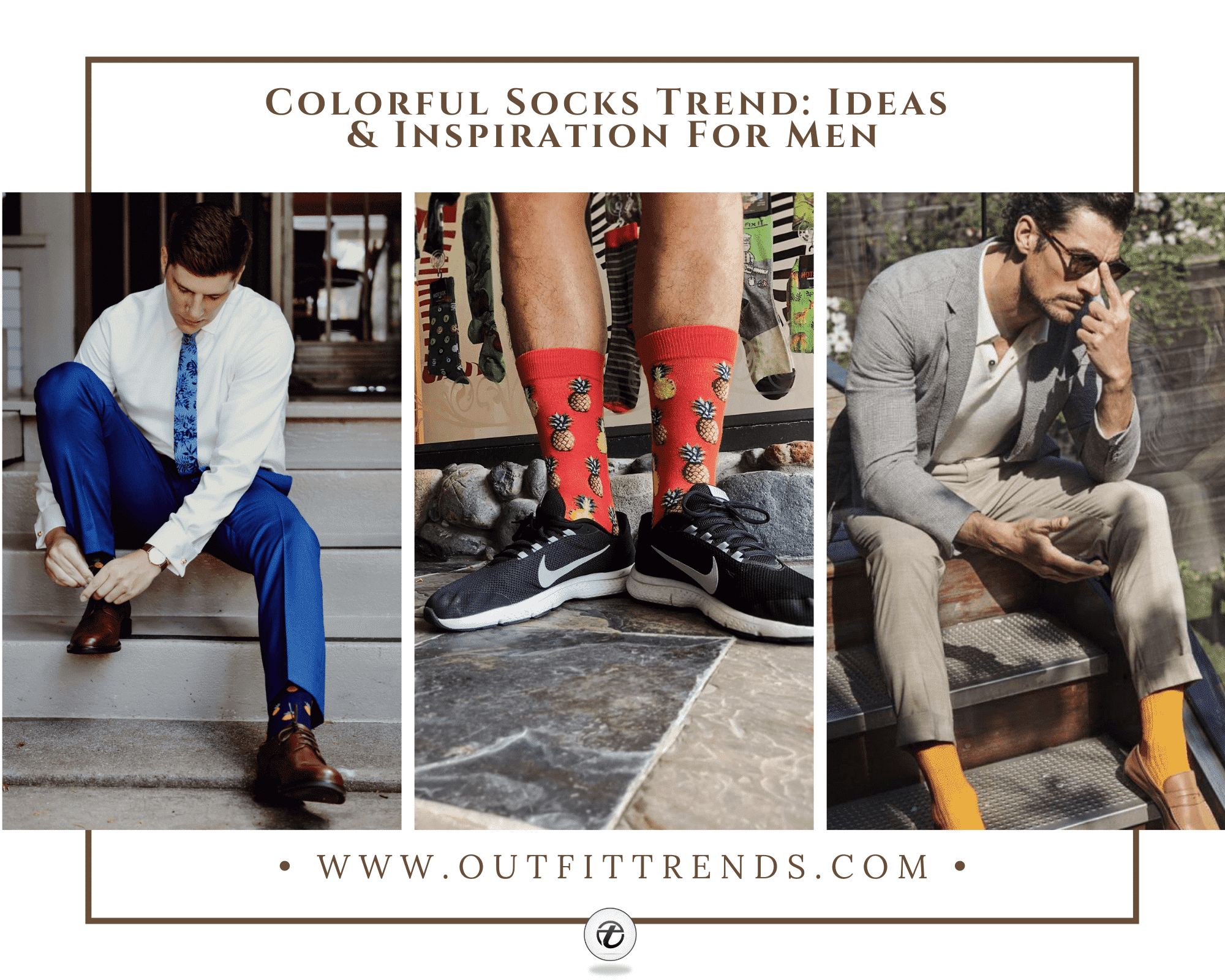 25 Ideas on How to Wear Funky Colorful Socks for Men
