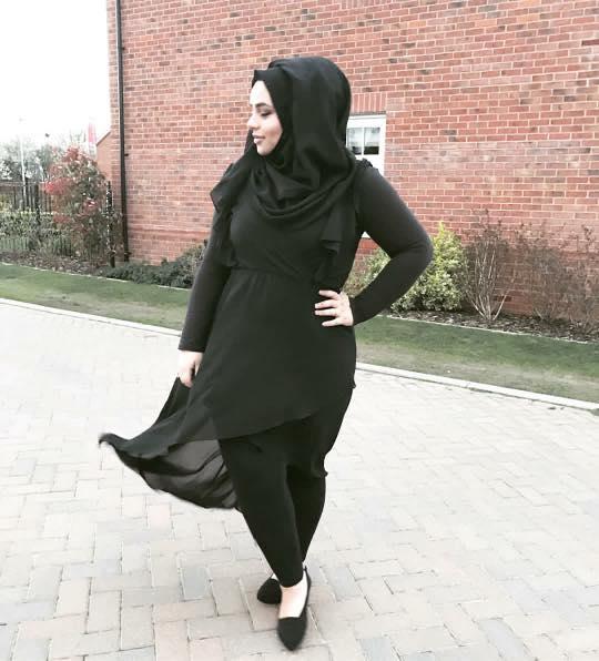 plus size hijab street style