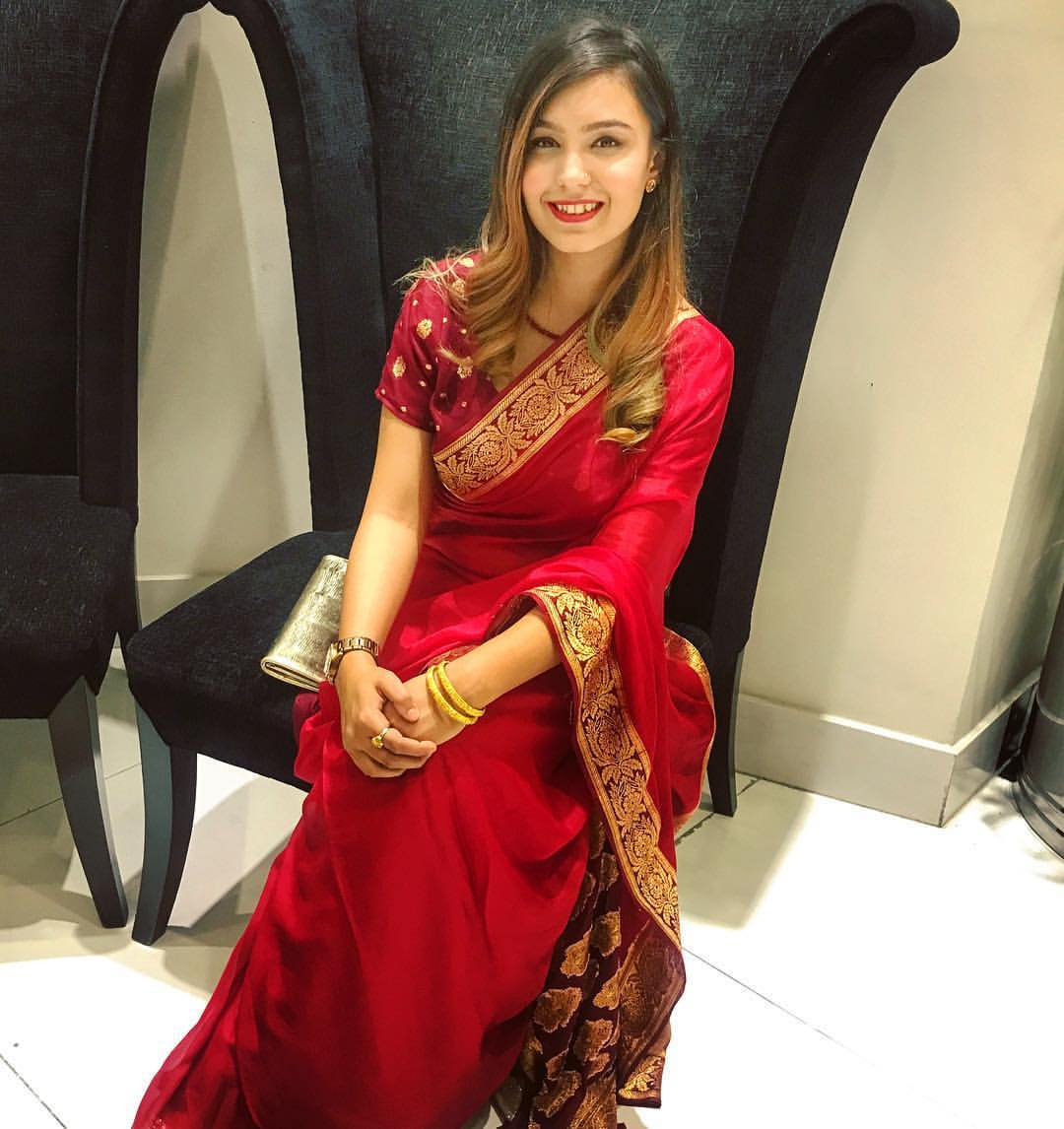 Images of girls in saree