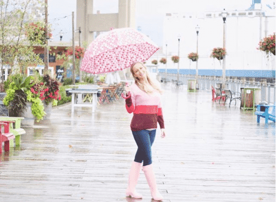 what to wear to work when its raining