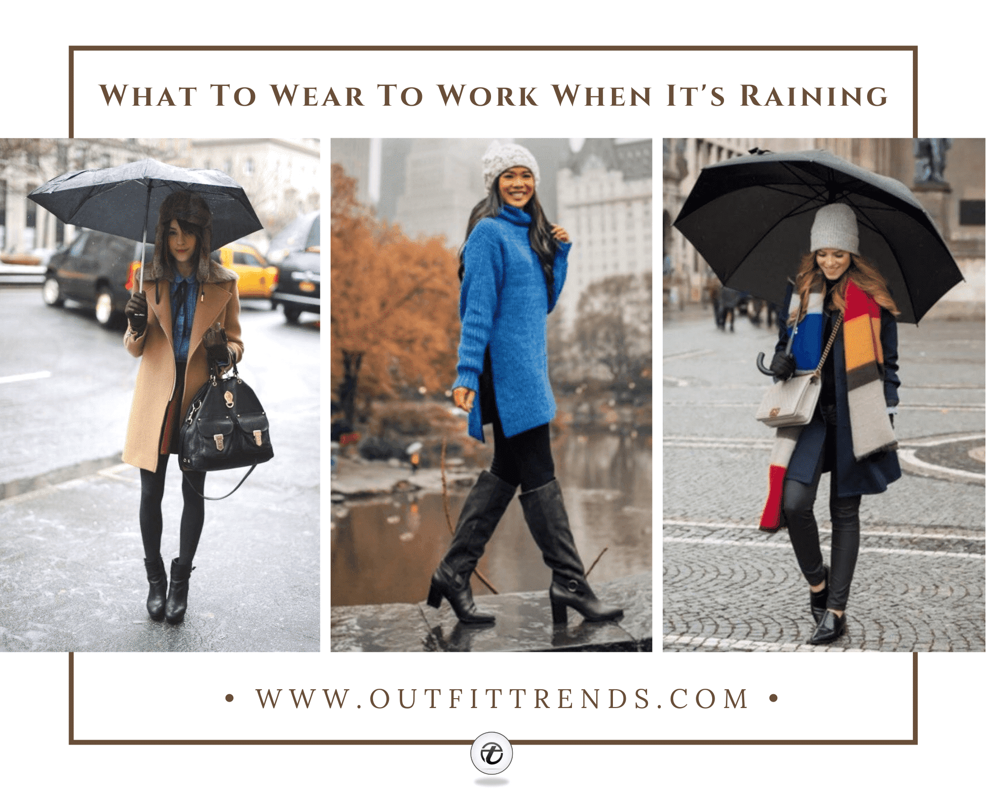 22 Outfit Ideas on What to Wear to Work On Rainy Days