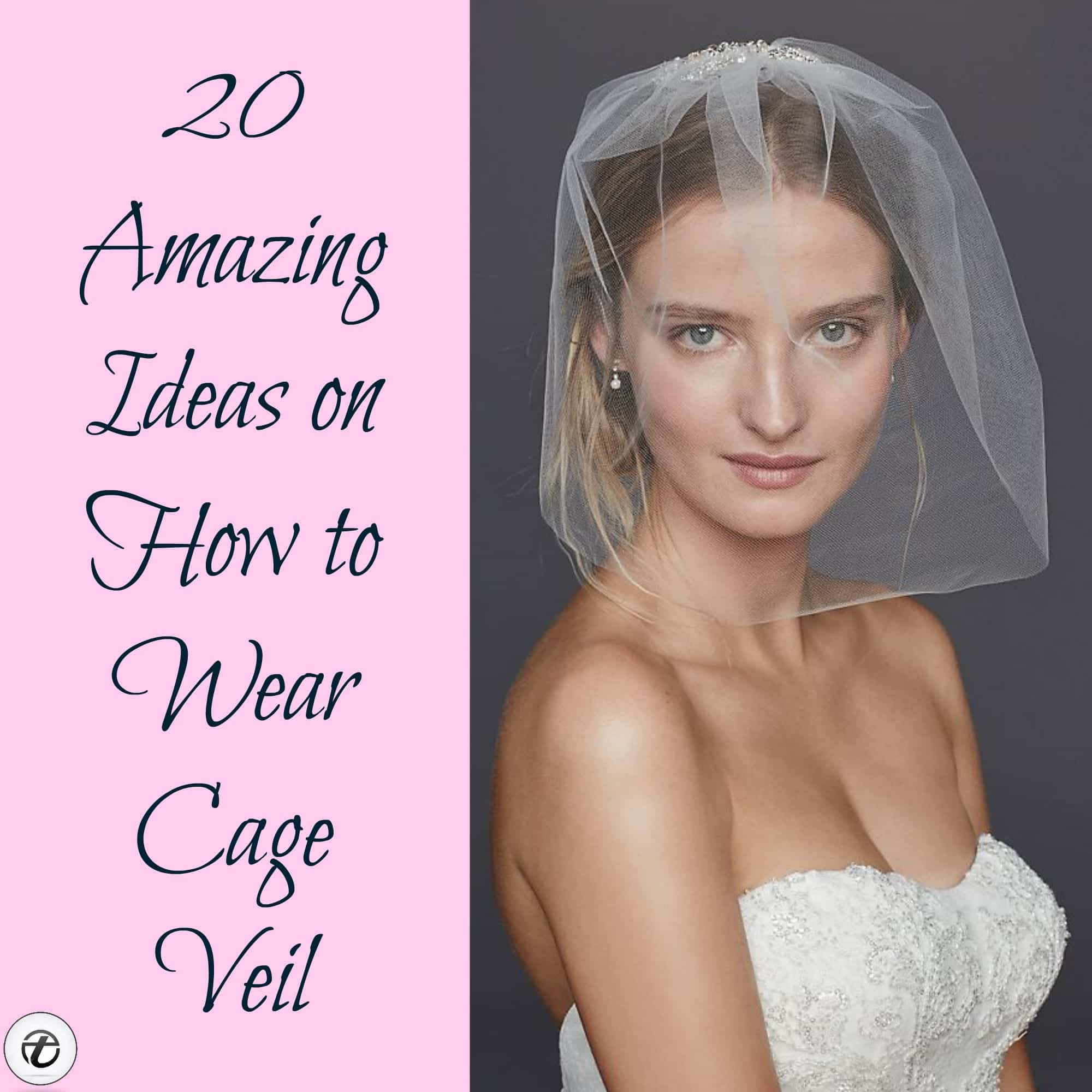 Bridal Birdcage Veil- 20 Best Ideas on How to Wear Cage Veil