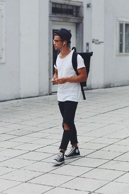 Mens Light Blue Skinny Jeans