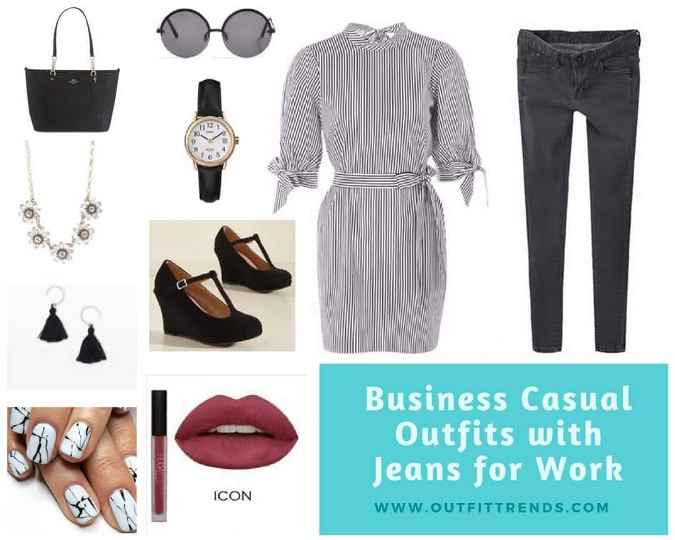 outfits for work with jeans