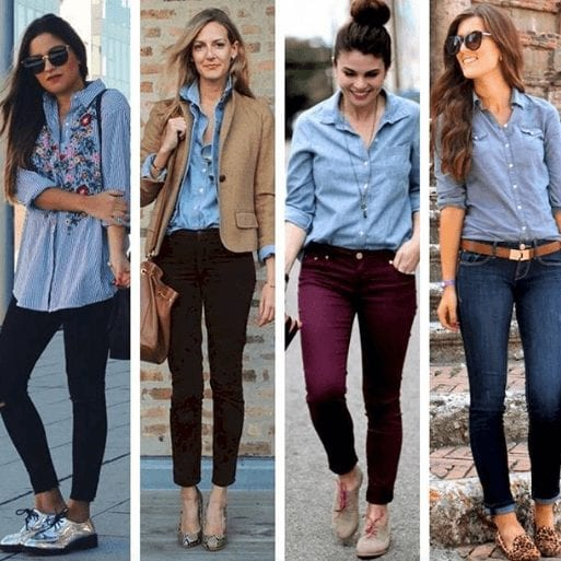 abd382f9b0 Wearing Business Casual Jeans- 21 Ways to Wear Jeans at Work