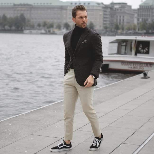 Charcoal Grey Suits with Black Shoes For Men (18)