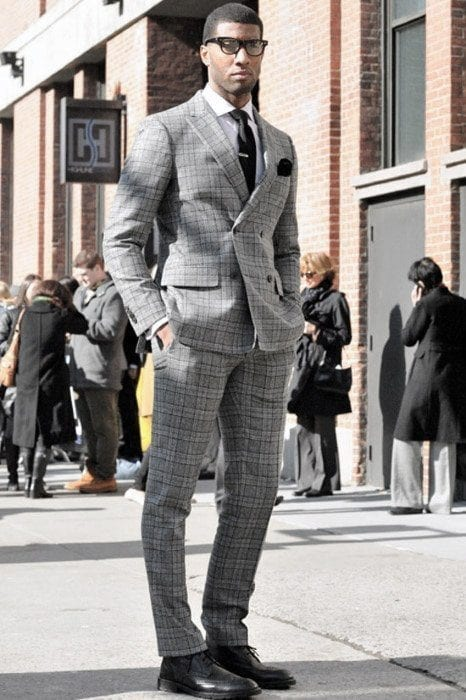 Charcoal Grey Suits with Black Shoes For Men (14)