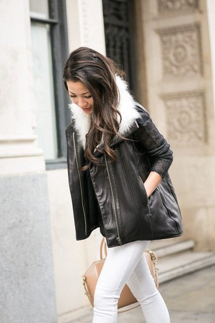 Leather bomber jacket outfits for women (12)