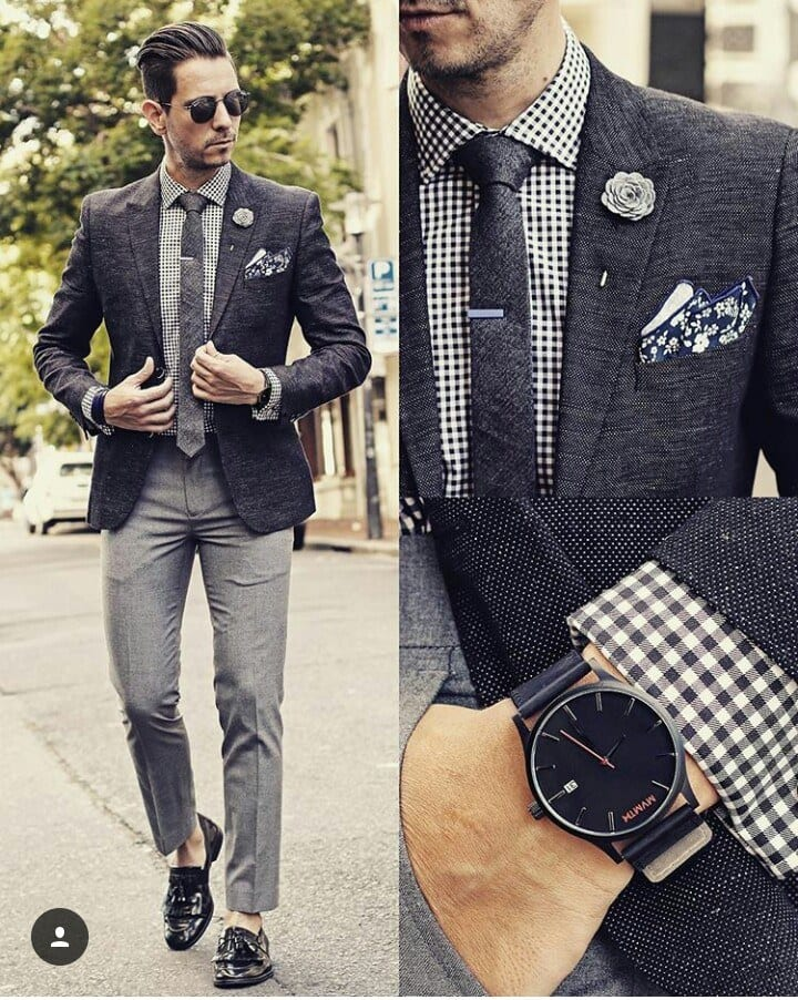 Charcoal Grey Suits with Black Shoes For Men (10)
